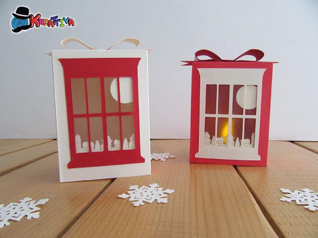 Lanterna natalizia di carta fai da te
