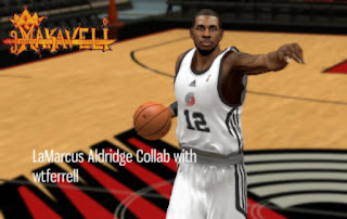 NBA 2K13 LaMarcus Aldridge Cyber Face Mods