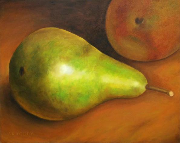 Pintura al óleo, pera