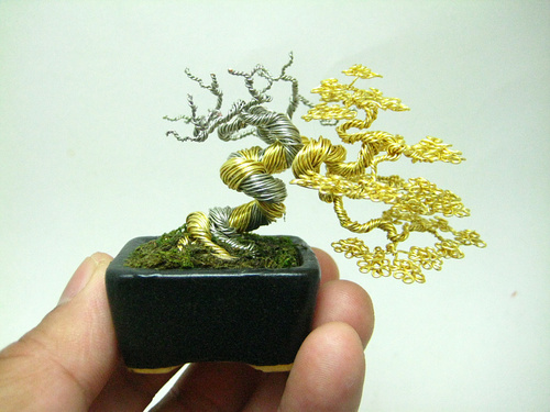 Miniature Wire Bonsai Trees By Ken To The Beading Gem S Journal