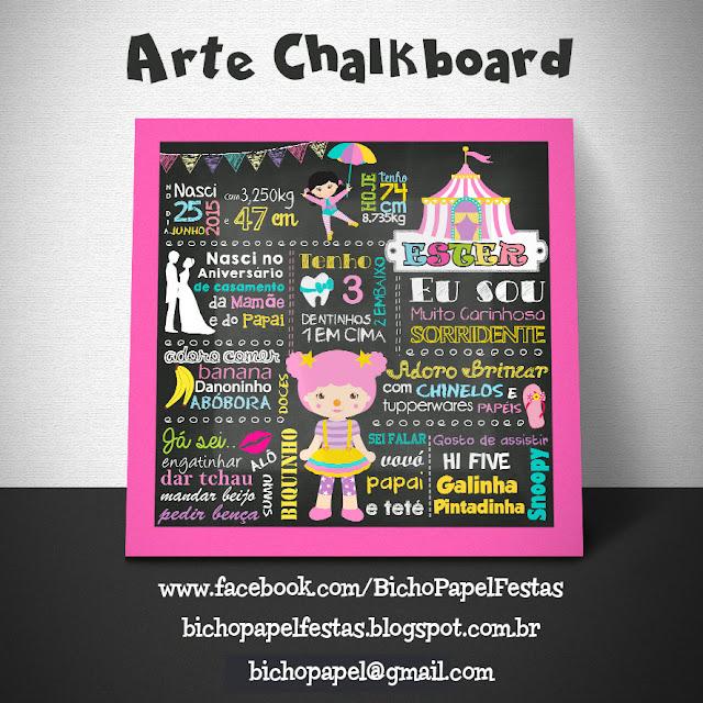 Chalkboard Circo Menina