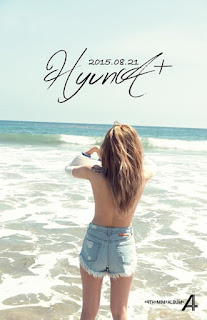 "HyunA teases fans for ""A+"" album."