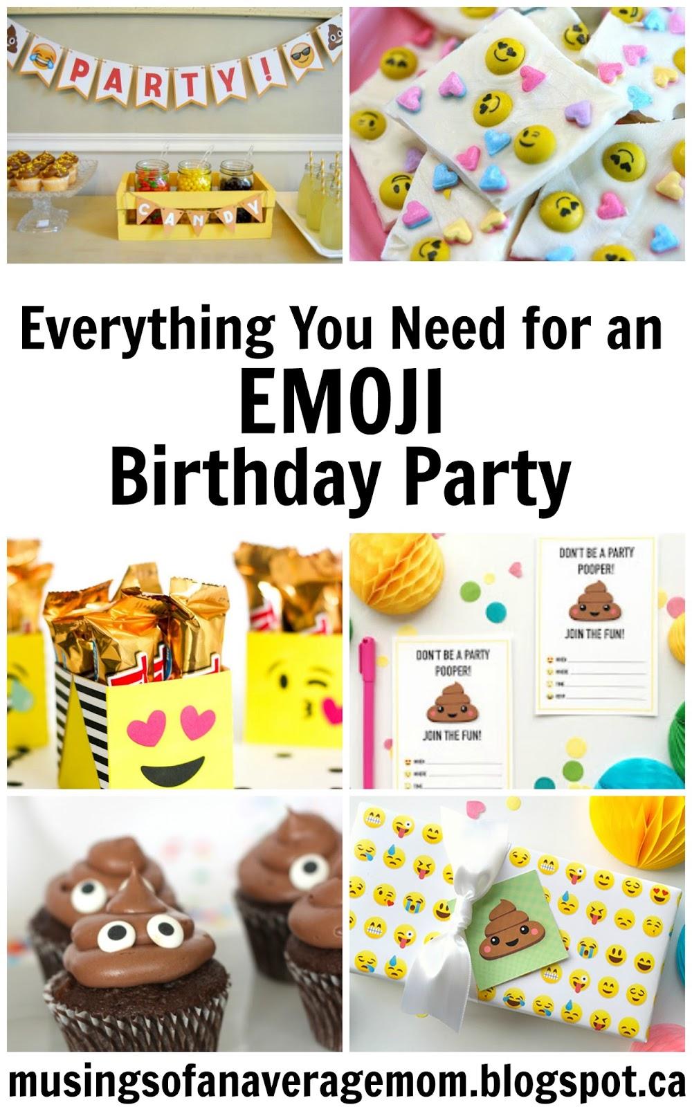 Musings Of An Average Mom Emoji Party Printables