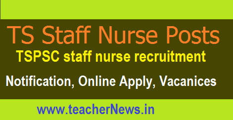 TSPSC Staff Nurse Recruitment 2017 Online Apply for 1196 posts at tspsc.gov.in