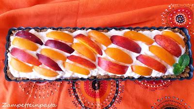 Crostata senza cottura alla frutta - Crema di mascarpone senza uova