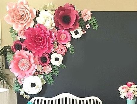 a2e91bb8ef0 Tutorial de Artesanías  Flores gigantes en cartulina