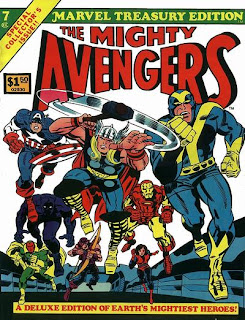 Avengers Marvel Treasury Edition, Jack Kirby cover