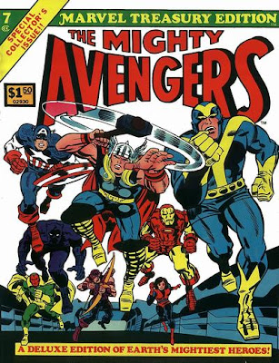 Marvel Treasury Edition #7, the Avengers, Jack Kirby cover