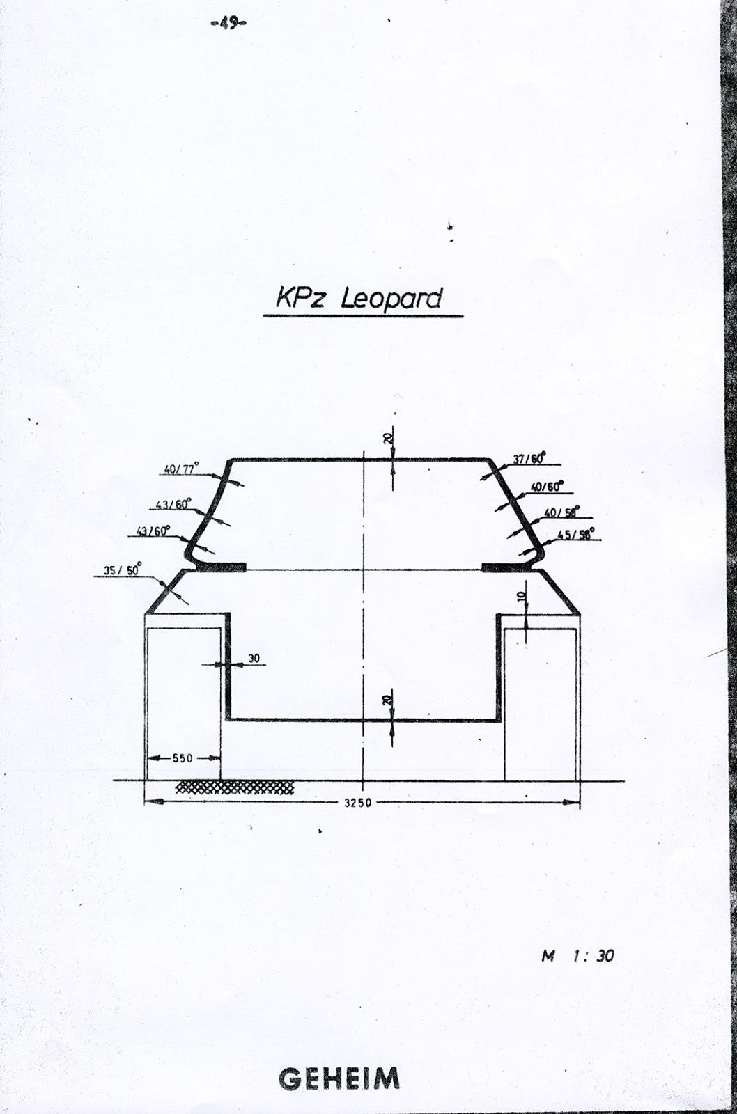 Tank Archives Leopard Armour Schematics Modern Source Comparison With West German Iik Under Development 1972