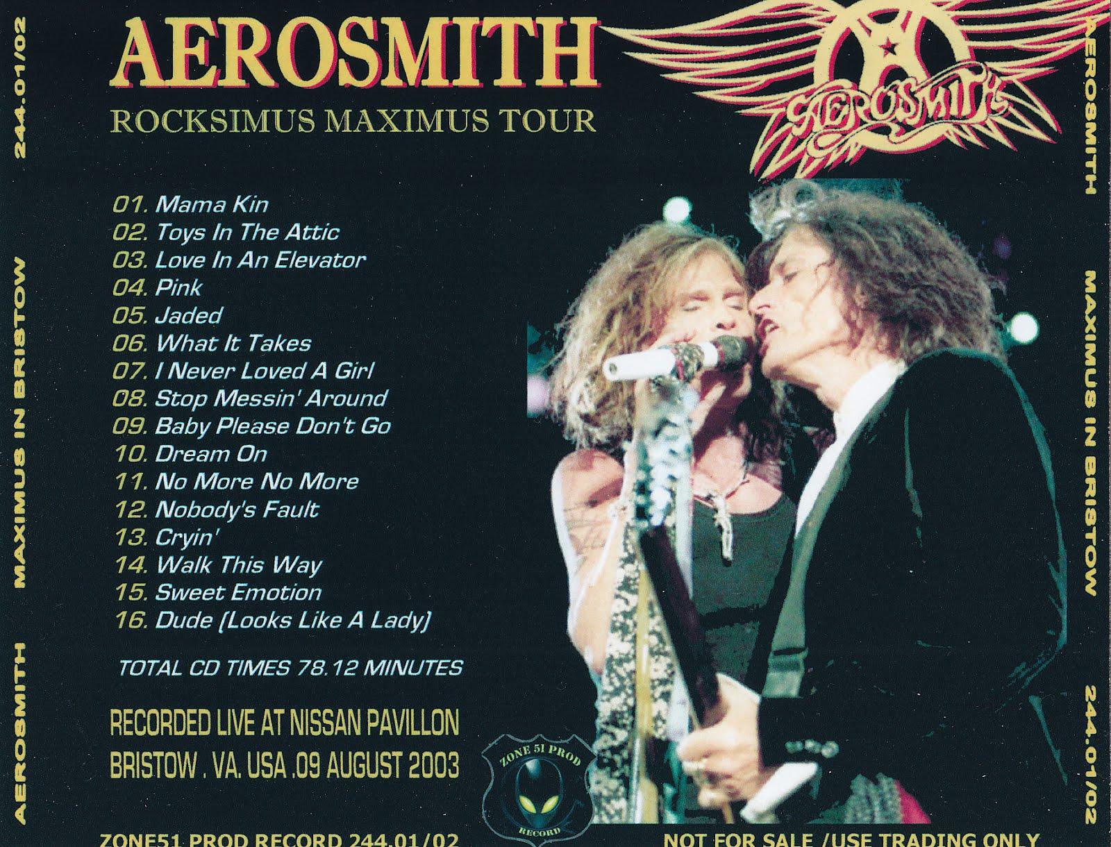 Aerosmith Bootlegs Cover Arts Maximus In Bristow 2003