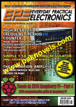 EVERYDAY PRACTICAL ELECTRONICS JANUARY 2014
