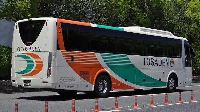 広島のバス: とさでん交通 高知230あ801