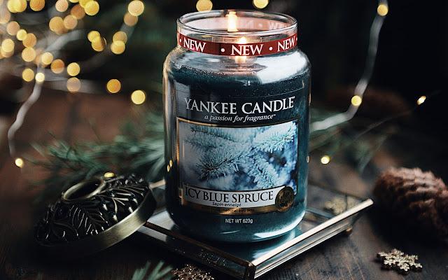 Powiew zimowego chłodu :) Yankee Candle - Icy Blue Spruce - Czytaj więcej »