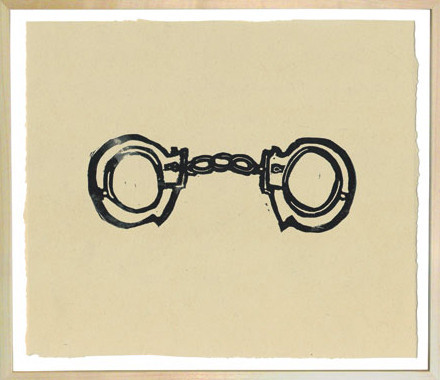Hugo Guinness Linocuts Handcuffs