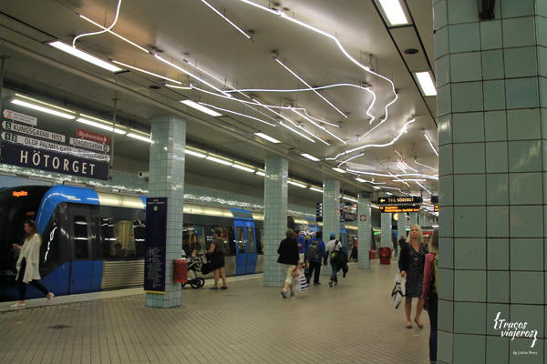 Diseño en la estacion de Hotorget Estocolmo