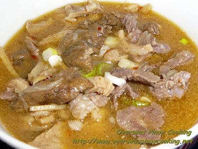 Beef Pinapaitan, Papaitan