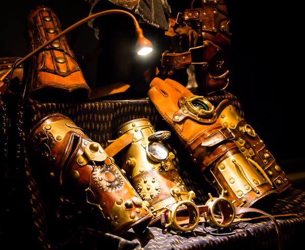 steampunk kello fantasy post apocalyptic nahkataide nahka-asu