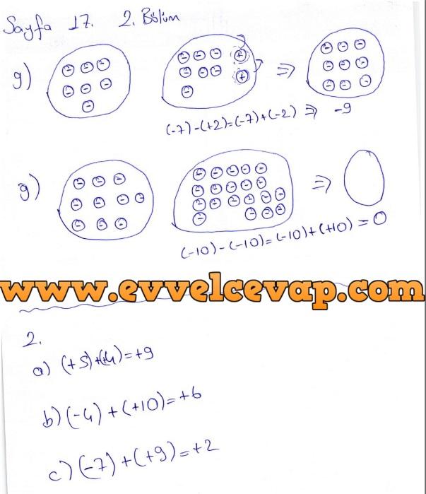 7. Sınıf Matematik Ders Kitabı Cevapları Koza Yayınları Sayfa 17-2