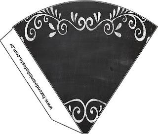 Blackboard Style, Free Printable Cones.