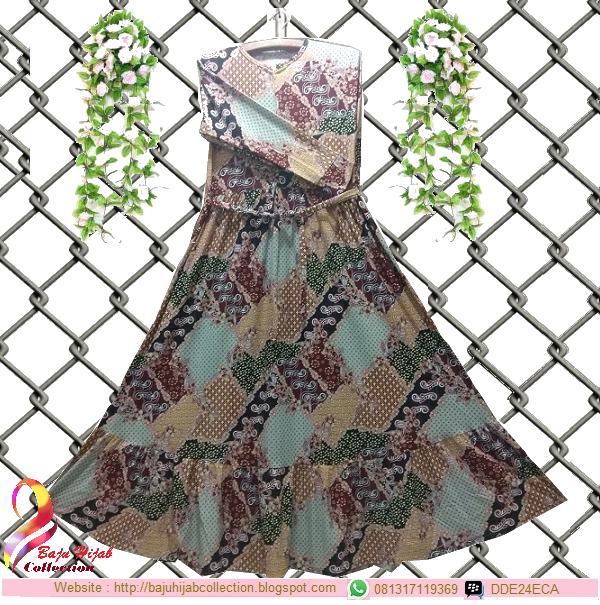 Gamis Misbee Jumbo Batik Marun