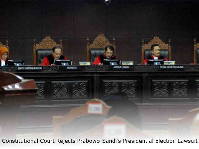 Constitutional Court Rejects Prabowo-Sandi's Presidential Election Lawsuit