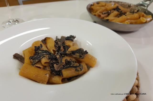 Rigatoni, Trompetes-de-la-mort, pasta, Tofona, Macarrons, Bolets, Blog-de-la-Sonia, lessencia-de-la-cuina