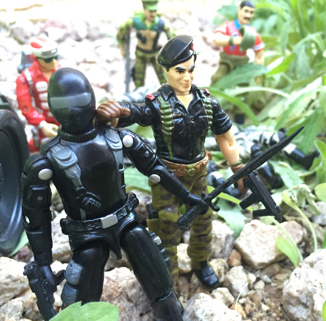 1997 Snake Eyes, Toys R Us Exclusive, Star & Stripes Forever, Stalker, Zap, 1983, 1985 Flint, Bazooka, 1986 Lifeline, Leatherneck