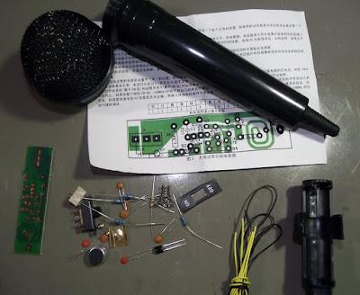 Kit para montagem de microfone sem fio
