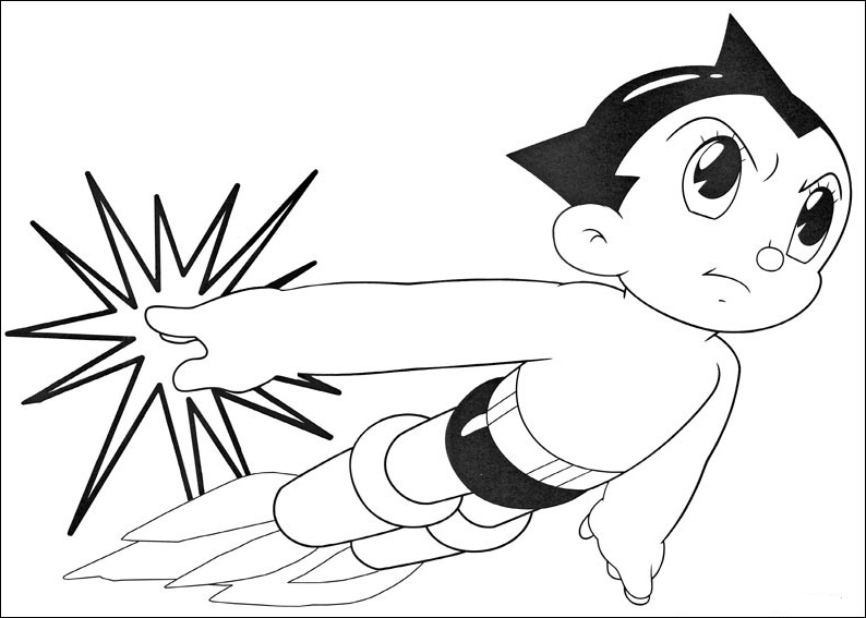 fun coloring pages astro boy coloring pages