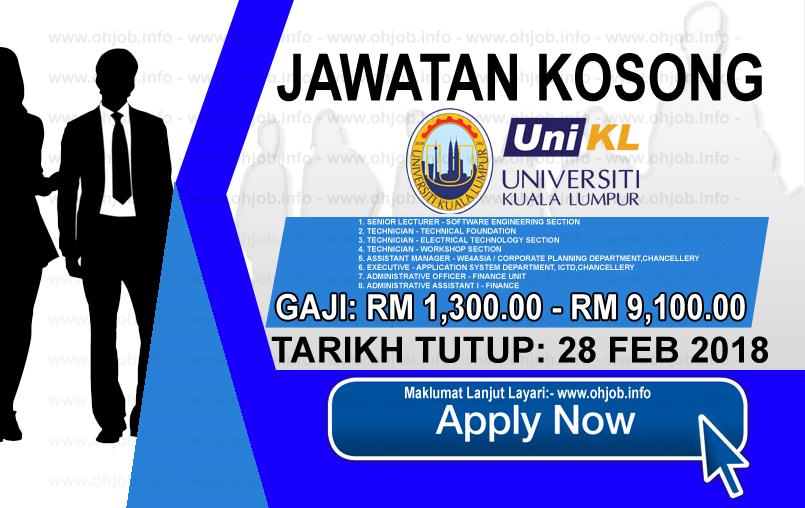 Jawatan Kerja Kosong Universiti Kuala Lumpur - UniKL logo www.ohjob.info februari 2018