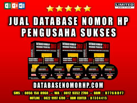Jual Database Nomor HP Pengusaha Sukses