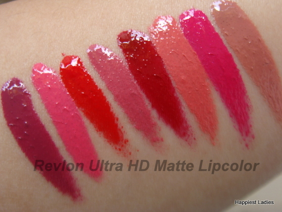 Revlon Ultra HD Matte Lipcolor swatches