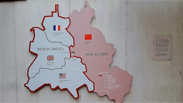 A map of the divided German at Open Air Exhibition