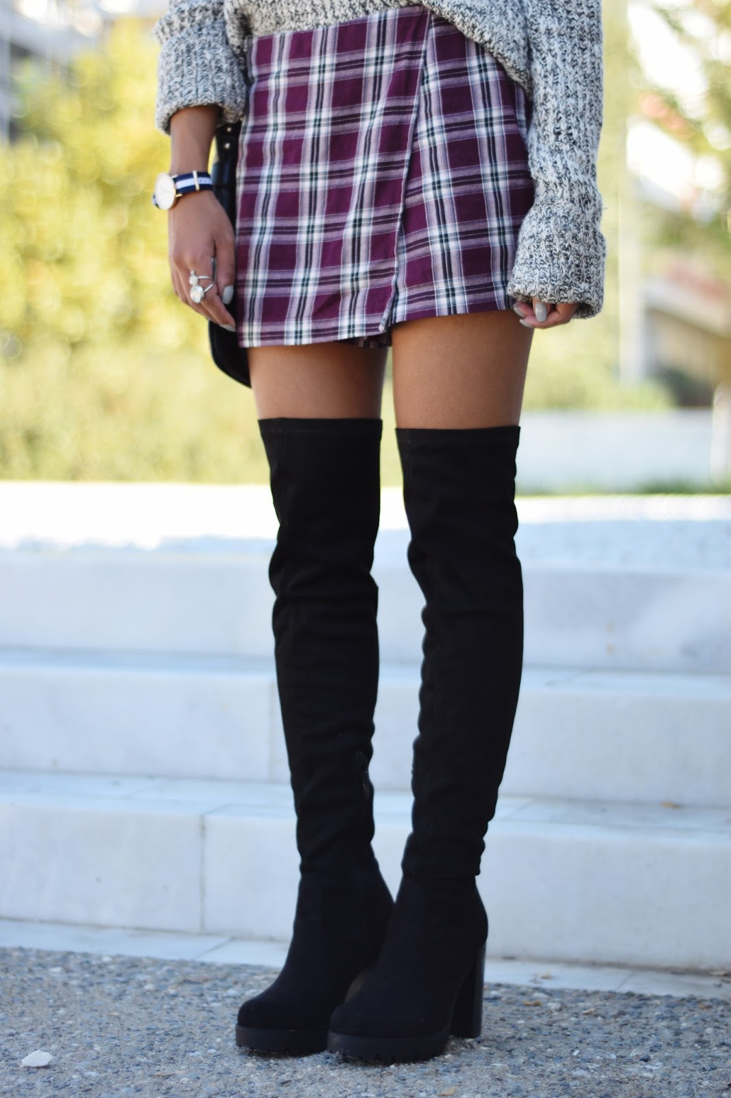 River Island over-the-knee boots topshop plaid skorts  WELLINGTON Classic Glasgow 36mm watch