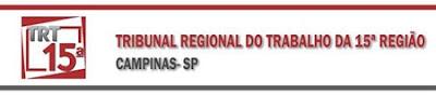 INSCRIÇÕES CONCURSO TRT15 REGIÃO