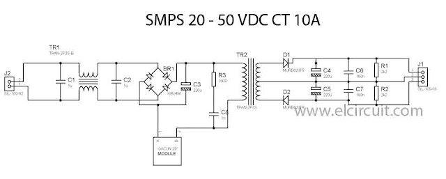 SMPS Power Amplifier 10Amper