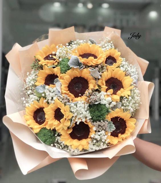 bo hoa sinh nhat bang hoa hướng dương