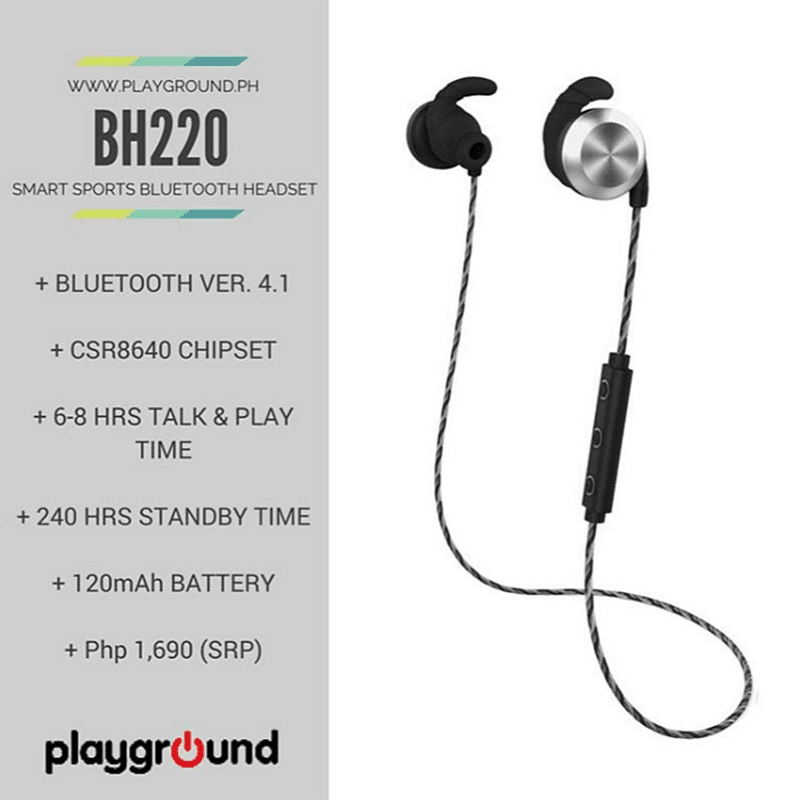 Playground BS220 Bluetooth Headset With NFC And Sweat Resistance Now Available At Lazada For 1690 Pesos!