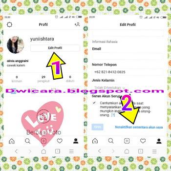 cara menghapus akun instagram versi baru