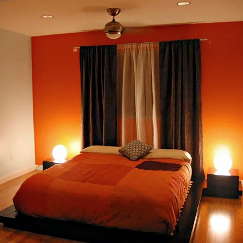 38 SMALL ORANGE THEMED BEDROOM DESIGNS