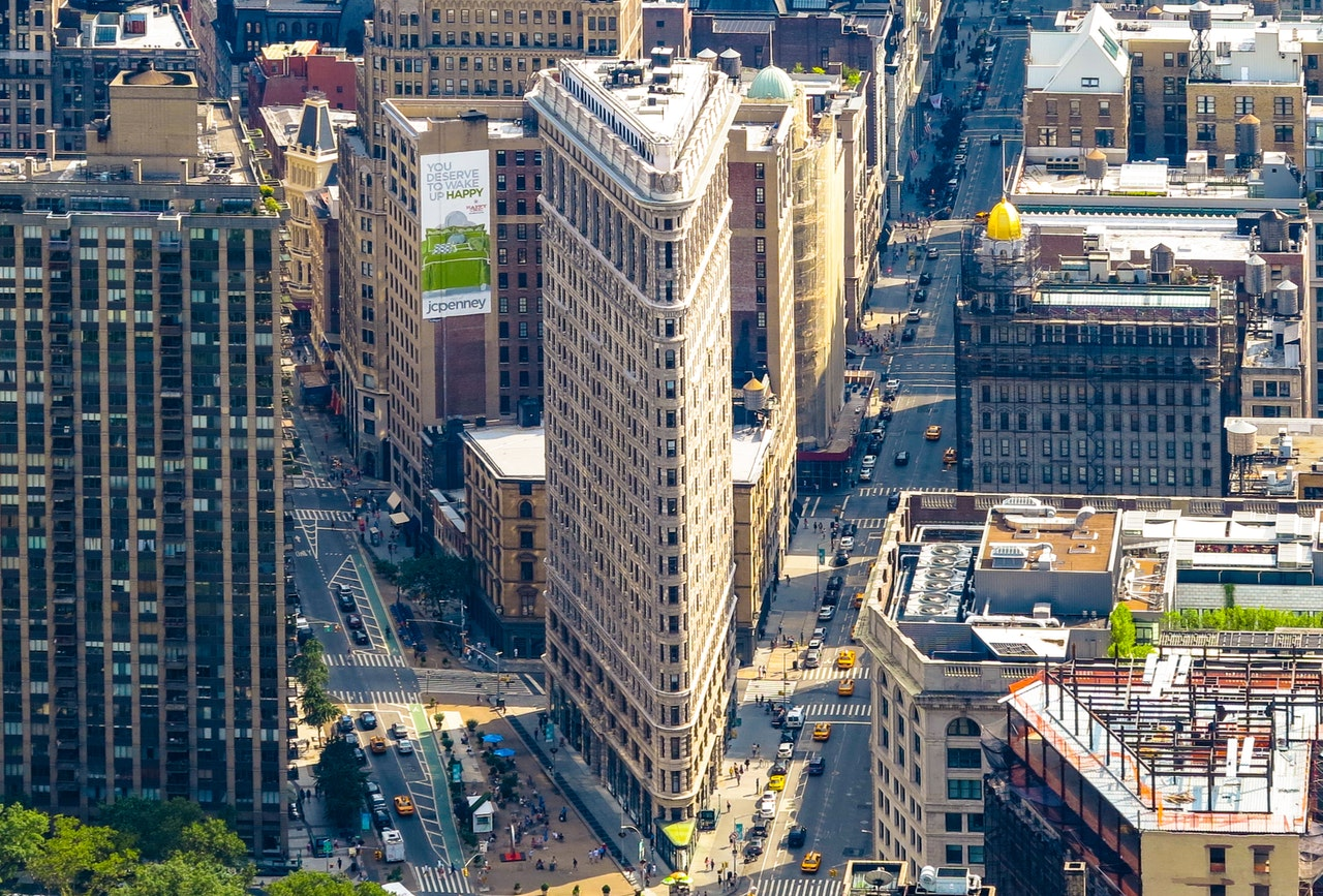 Aerial Architecture of New York Buildings