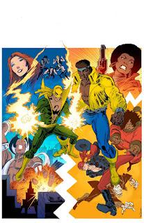 """Ce moi de février voit arriver une nouvelle série Power Man et Iron Fist chez Marvel. Elle sera écrite par David Walker et mise en images par Sanford Greene. Et pour fêter le retour des """"Héros à louer"""", Marvel a sorti le grand jeu niveau variant cover."""