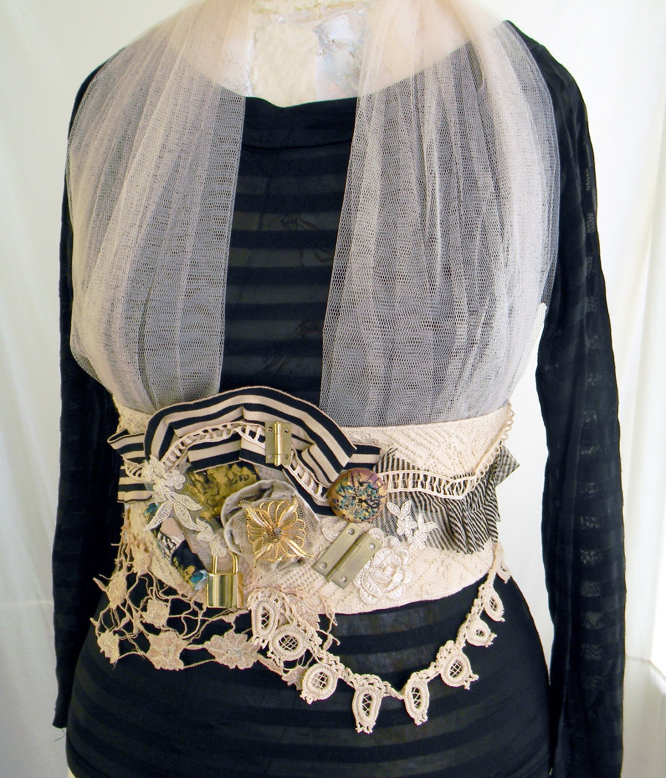 Handmade Steampunk Wedding Harness/Eclectic Urban Style