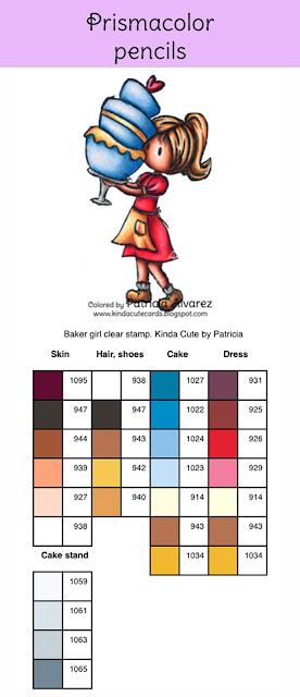 Prismacolor pencil coloring chart