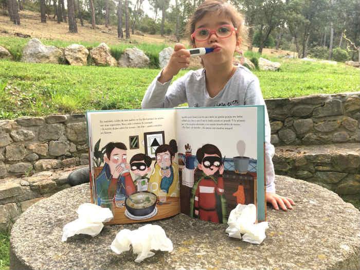 libro infantil, cuento divulgativo Mocos. Una semana o siete días. Jaume Copons