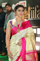 Sneha Looks Super cute in Red Silk Saree at IIFA Utsavam Awards 011.JPG