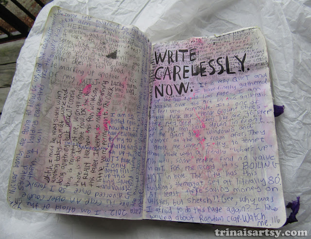 Wreck this Journal - Write carelessly now.
