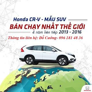 Honda CR-V 2017 đầy cuốn hút và mê hoặc