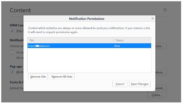 Mematikan Notifikasi Web Untuk Semua Browser