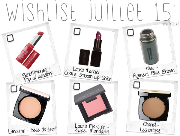 revue avis test wishlist beaute bareminerals lancome laura mercier mac chanel